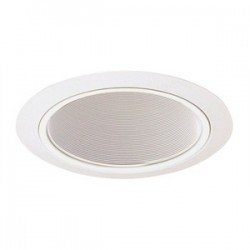 Acuity Brands Lighting - 203W-WH - Juno Lighting 203W-WH Baffle Trim, Deep, 5, BR30, White Baffle/White Ring