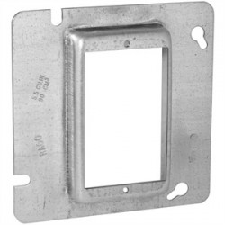 Appleton Electric - 8485A - Appleton 8485A 4-11/16 Square Cover, 1-Device, Mud Ring, 1/2 Raised, Drawn