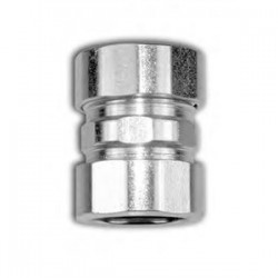 American Fittings - EC764US - American Fittings Corp EC764US EMT Compression Coupling, 1-1/2 inch, Steel, Concrete Tight