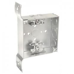 Appleton Electric - 4SXVB-EK-PL - Appleton 4SXVB-EK-PL 4 Square Box, Welded, Metallic, 1-1/2 Deep, Vertical Bracket