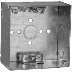 Appleton Electric - 4SX-EK - Appleton 4SX-EK 4 Square Box, Welded, Metallic, 1-1/2 Deep