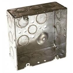 Appleton Electric - 4SD-3/4 - Appleton 4SD-3/4 4 Square Box, Welded, Metallic, 2-1/8 Deep
