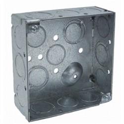 Appleton Electric - 4S-3/4 - Appleton 4S-3/4 4 Square Box, Welded, Metallic, 1-1/2 Deep
