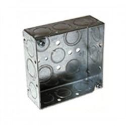 Appleton Electric - 4S-1/2 - Appleton 4S-1/2 4 Square Box, Welded, Metallic, 1-1/2 Deep