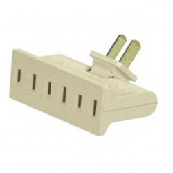 Leviton - 69-I - Leviton 69-I 15 Amp NEMA 1-15, 3-Outlet Adapter, Ivory