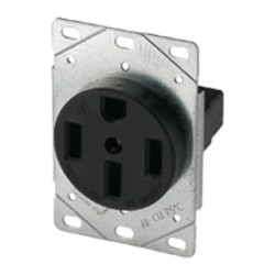 Cooper Wiring Devices - 1258-SP - Arrow Hart 1258-SP Receptacle, 50A, 125/250V, 3P4W, 14-50R