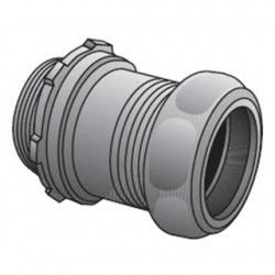 Appleton Electric - 7100ST - Appleton 7100ST EMT Compression Connector, 1 inch, Insulated, Concrete Tight, Steel