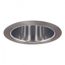 Acuity Brands Lighting - 206PT-SC - Juno Lighting 206PT-SC Cone Trim, Deep, 5, BR30/PAR30, Pewter Reflector/Satin Chrome Ring
