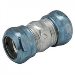 Hubbell - 2954RT - Hubbell-Raco 2954RT EMT Compression Coupling, 3-1/2, Raintight, Steel