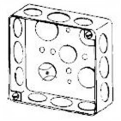 Appleton Electric - 4S-SPL-DR - Appleton 4S-SPL-DR 4 Square Box, Drawn, Metallic, 1-1/2 Deep