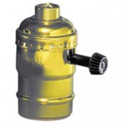 Leviton - 10083-16 - Leviton 10083-16 Incandescent Lampholder, Medium Base, Brass