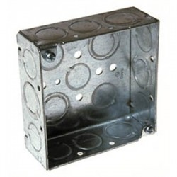 Appleton Electric - 4S-1/2-DR - Appleton 4S-1/2-DR 4 Square Box, Drawn, Metallic, 1-1/2 Deep