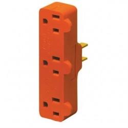 Leviton - 699 - Leviton 699 15 Amp NEMA 5-15, 3-Outlet Adapter, Orange