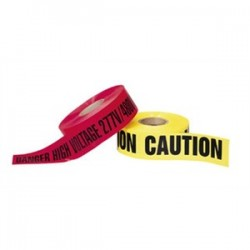 IDEAL Electrical / IDEAL Industries - 42-052 - Ideal 42-052 Barricade Tape, DANGER HIGH VOLTAGE 277V/480V KEEP OUT, Red