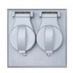 Teddico - FC281 - BWF FC281 2 Single Receptacles, 2-Gang, Weatherproof Cover