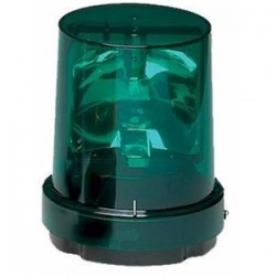 Federal Signal - 121S-120G - Federal Signal 121S-120G Incandescent Rotating Beacon, Green