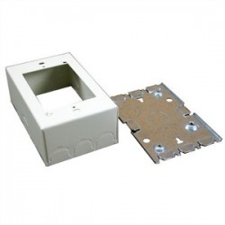 Wiremold / Legrand - V5745 - Wiremold V5745 Combo Switch/Receptacle Box, 1-Gang, 500/700 Series Raceway, Ivory