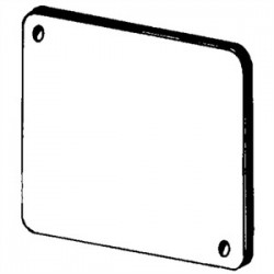 Appleton Electric - 8465P - Appleton 8465P 4 Square Cover, Plenum, Gasketed, Flat, Blank