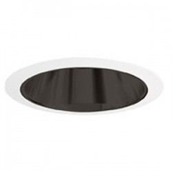 Acuity Brands Lighting - 207B-WH - Juno Lighting 207B-WH Cone Trim, 5, R20/PAR20, Black Alzak Reflector/White Ring