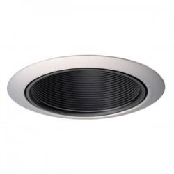 Acuity Brands Lighting - 14B-SC - Juno Lighting 14B-SC Baffle Trim, 4, Black Baffle/Satin Chrome Trim