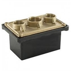 Teddico - PB-100 - BWF PB-100 Swimming Pool Junction Box, 1-Gang, 2-27/32 Deep, 3/4 and 1 Hubs