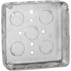 Appleton Electric - 4SL-1/2 - Appleton 4SL-1/2 4 Square Box, Drawn, Metallic, 1-1/4 Deep