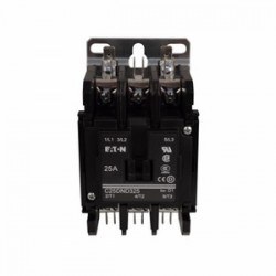 Eaton Electrical - C25DNC330B - Eaton C25DNC330B Contactor, C25 series, 30A, 3P, 3PH, 600VAC, 240VAC Coil, Open