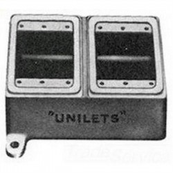 Appleton Electric - FD-2L - Appleton FD-2L FD Device Box, 2-Gang, Type: Dead-End, Blank, Malleable Iron