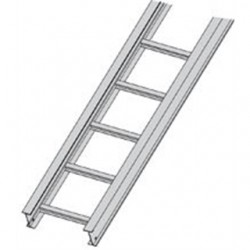 Eaton Electrical - 24A09-24-144 - Cooper B-Line 24A09-24-144 Cable Tray, Ladder Type, Aluminum, 9 Rung Spacing, 24 Wide, 12' Long