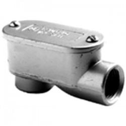 Bridgeport Fittings - 1025 - Bridgeport Fittings 1025 Conduit Body, Type: LB, Size: 1/2, Aluminum