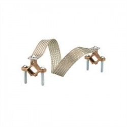 Bridgeport Fittings - BJ-100 - Bridgeport Fittings BJ-100 Bonding Jumper, 1/2 to 1, 18 Length, Tinned Copper Braid