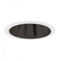 Acuity Brands Lighting - 247B-WH - Juno Lighting 247B-WH Cone Trim, Shallow, 6, Black Alzak Reflector/White Trim