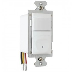 Pass & Seymour - RW3U600-WCC4 - Pass & Seymour RW3U600-WCC4 Occupancy/Vacancy Sensor, PIR, Wall Switch, Single Pole, White