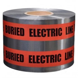 3M - 408 - 3M 408 Caution Buried Electric Line Below Barricade Tape, 6 x 1000'