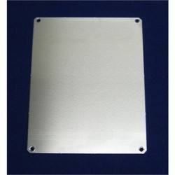Allied Moulded - PA108 - Allied Moulded PA108 Panel For Enclosure, 10 x 8, Aluminum