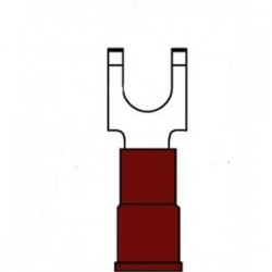 3M - MNG18-10FFBX - 3M MNG18-10FFBX Block Fork Terminal, Type: Flanged, Nylon Insulated, 22 - 18 AWG