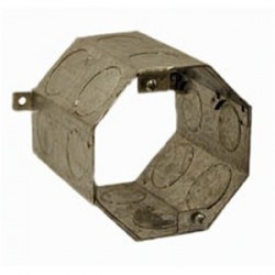 Hubbell - 279 - Hubbell-Raco 279 4 Concrete Ring, 4 Deep, 1 - 3/4 KOs, Steel