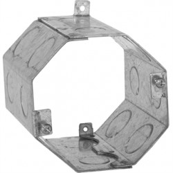 Hubbell - 274 - Hubbell-Raco 274 4 Concrete Ring, Octagon, 4 Deep, 1/2 & 3/4 KOs, Steel