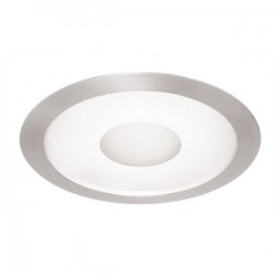 Acuity Brands Lighting - 242-SC - Juno Lighting 242-SC Shower Trim, 6, Satin Chrome Trim, Frosted Lens with Clear Center
