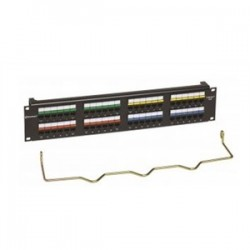 CommScope - CC0057604/1 - Commscope CC0057604/1 Patch Panel, Cat 6, 48 Port, 2 Unit Height, 19 Width, Uniprise