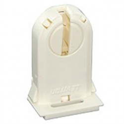 Leviton - 23660-OSL - Leviton 23660-OSL Fluorescent Lampholder, Medium Base, Turn Type w/ Lock, White
