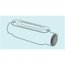 Appleton Electric - C-50ACGA - Appleton C-50ACGA Conduit Body With Cover/Gasket, Type: C, Size: 1/2, Aluminum