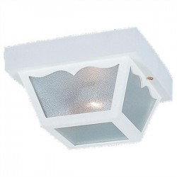 Sea Gull Lighting - 7569-15 - Sea Gull 7569-15 Ceiling Light, Outdoor, 2-Light, 60W, White
