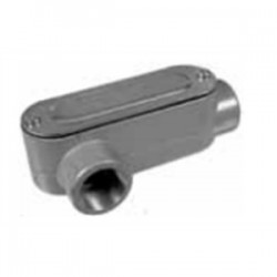 Topaz Lighting - LR4CG - Topaz LR4CG Conduit Body, Type: LR, 1-1/4, Cover/Gasket, Aluminum