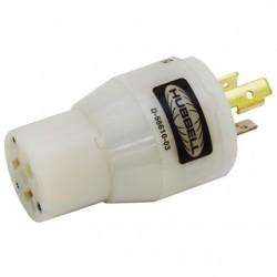 Hubbell - HBL2274 - Mains Converter Plug, L5-15P Plug, 5-20R Receptacle, 20 A, Nylon (Polyamide) Body