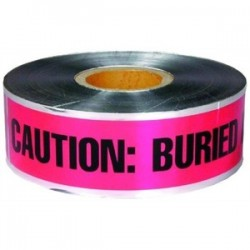 L.H. Dottie - DU605 - Dottie DU605 Detectable Barricade Tape, Buried Telephone Line Below, 6 x 1000', Orange