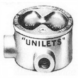 Appleton Electric - GRHL75 - Appleton GRHL75 Conduit Outlet Box, Type GRHL, 3/4 Hubs, Malleable Iron