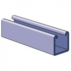 Atkore - P100010HG - Unistrut P100010HG Channel - No Holes, Steel, Hot-Dipped Galvanized, 1-5/8 x 1-5/8 x 10'