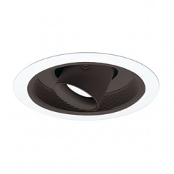 Acuity Brands Lighting - 226B-WH - Juno Lighting 226B-WH Adjustable Trim, in Baffle, 6, Black Baffle/White Trim