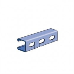Atkore - P1000T-10SS - Unistrut P1000T-10SS Channel - Elongated Holes, Stainless Steel, 1-5/8 x 1-5/8 x 10'
